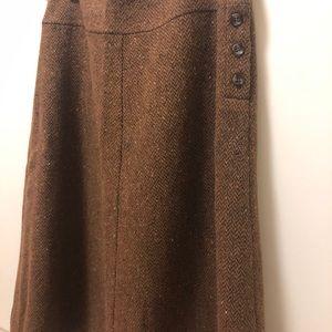 Max Mara weekend tweed wool A-line skirt